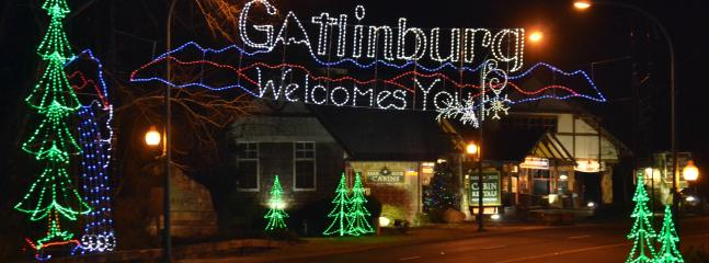 Gatlinburg at Christmas time