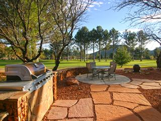 Fairway facing patio.