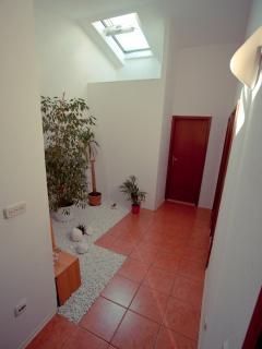 Hall with interior garden