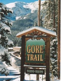 Entry to Gore Trail Condo Complex