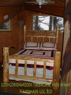 Western Red Cedar Hand-Made Log Bed in the @nd Floor Master Suite