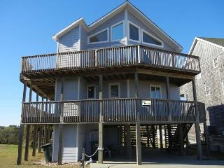 Right across the street from the beach, great views! Elevator, private pool, hot tub, pets OK., Nags Head
