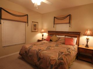 Upstair master ensuite with a king bed