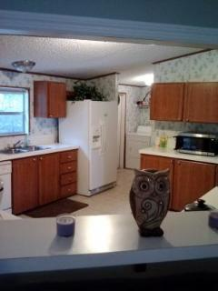 Large kitchen and laundry