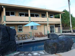 Honu Villa facing the ocean and pool.