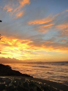 Beautiful sunrise in morning over Diamond Head.