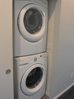 Longer stay or business trip?  Not a problem, this unit includes full sized washer and dryer.