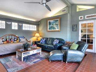 Lots of Seating For the Entire Family!  Huge Family Room!  View of the Pool, Fountains & Rear Yard!
