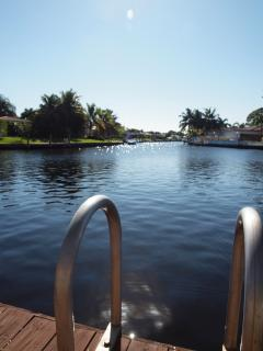 The private dock provides easy access to take out the kayaks!