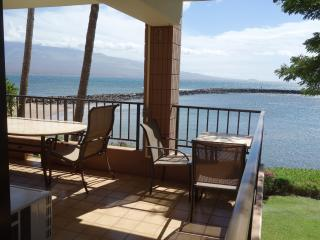 Large corner lanai with room for 6 people.