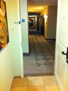 hallway to the villa (Corner unit)