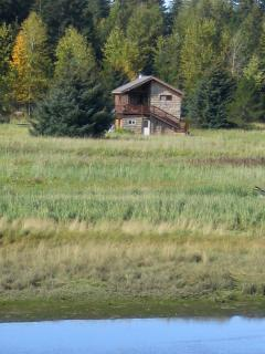 view of guest house from the salmon river