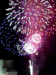 Balcony view 2nd Ave Pier Fireworks