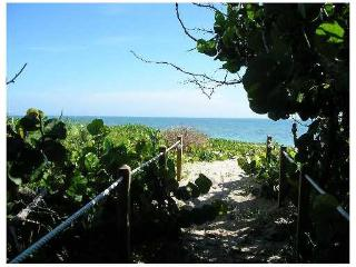 Walkway to private beach