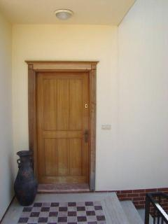 Main entrance-door to the Villa