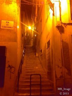 Surrounding area narrow streets, Old Lisbon's lighting