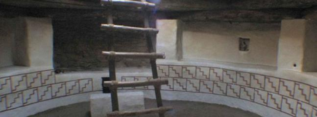 Restored Anasazi Kiva on property.