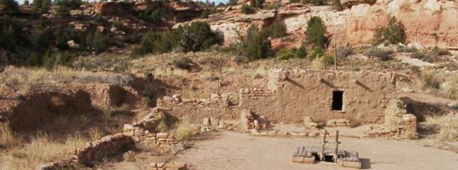 Restored Anasazi Pueblo on property.