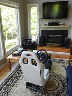 Racing seat is included, works well with PS3 and GT5