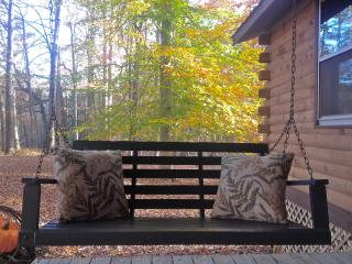 Relax in the swing on the covered porch w/coffee or wine and view the wildlife.