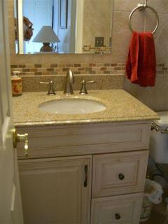 Downstairs Basin in Shower Room