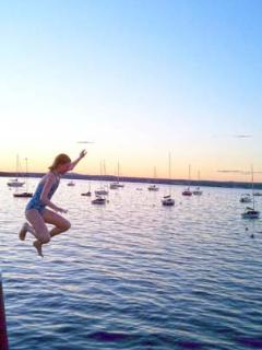 ...and wharf jumping at dusk