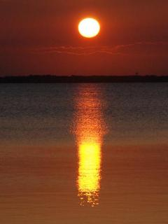 Sunset over sound