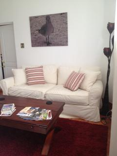 Living Room with pullout queen sized sofa