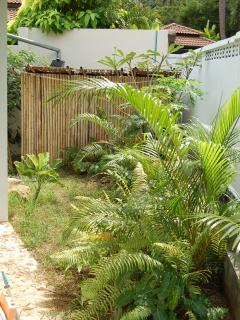 small private front garden - both bedrooms overlook