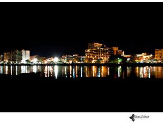 nightime riverfront