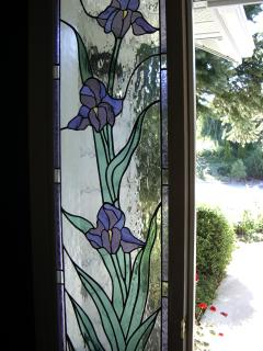 Front entry stained glass