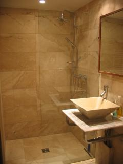 Italian travertine tiles (kind of marble)