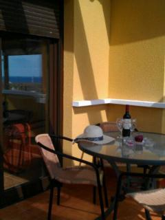 Enjoy a glass of rioja on the terrace after a hard days sunbathing :-)