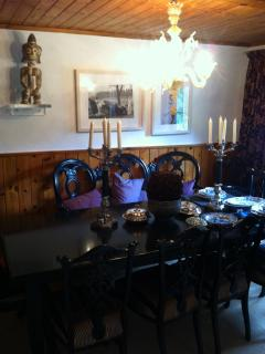 When we are in Kitzbuehel we give great dinner parties in the grand style dining room