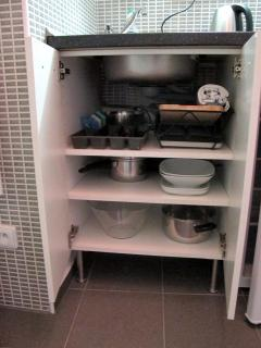 a small but fully equipped kitchenette