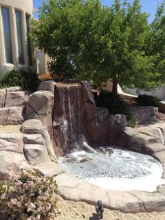 Fountain Exterior of House