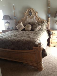 Regal Second Cal King Bed Room French Doors that open to the Patio