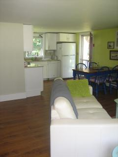 Living room is open to kitchen