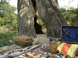 Enjoy a picnic along the banks of The Blanco, with a ladder for getting out of the river.