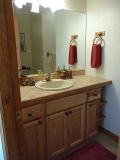 Main floor bathroom with walk-in shower.