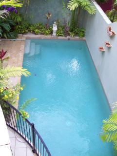 pool view from main bedroom