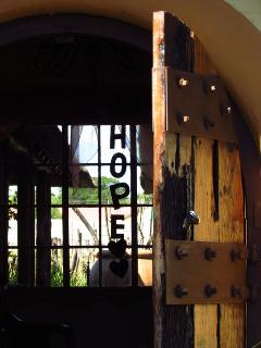 Entrance Door to African Silhouette Guesthouse