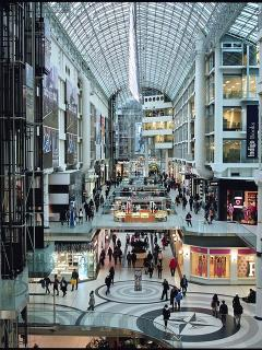 The Eaton Centre, directly across the street