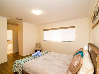 The Master suite includes a generous wardrobe allowance and there is room here for a travel cot if you are travelling with young children.