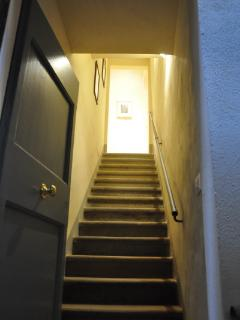 stairs leading up to the apartment