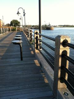 The Cape Fear River Walk is within easy strolling distance