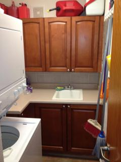 Laundry room with washer & dryer inside unit