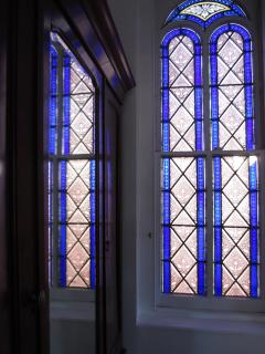 Stained Glass in Des Artistes Master Bedroom