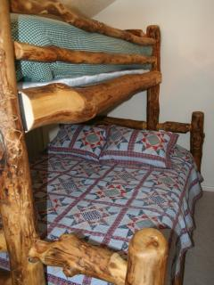 Sleeping loft, bunkbed with twin over queen