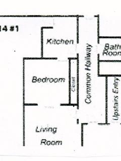 Unit Layout - PRIVATE Bath is across the hall.